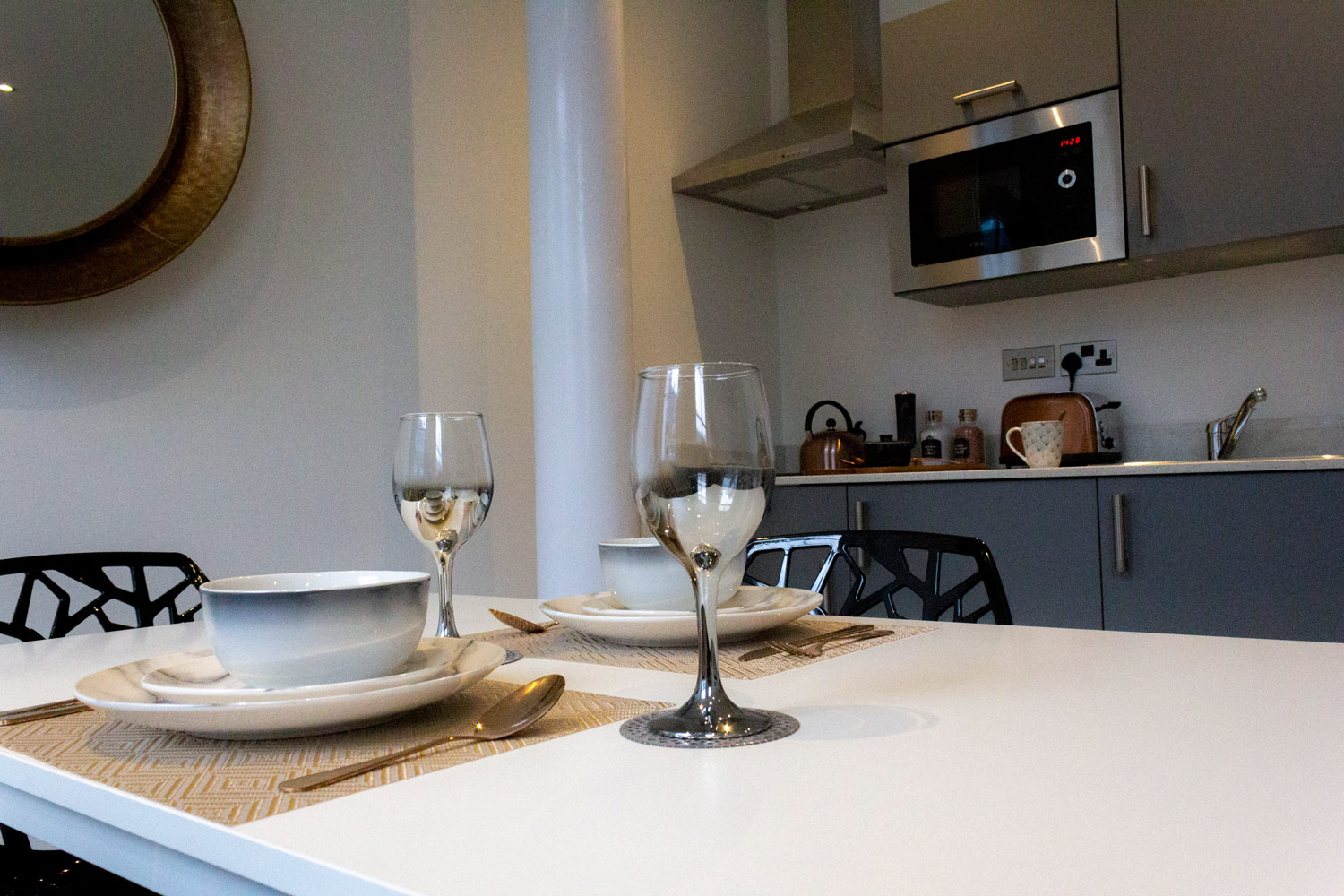 Kitchen diner at Colonial Chambers, Ropewalks, Liverpool - Citybase Apartments