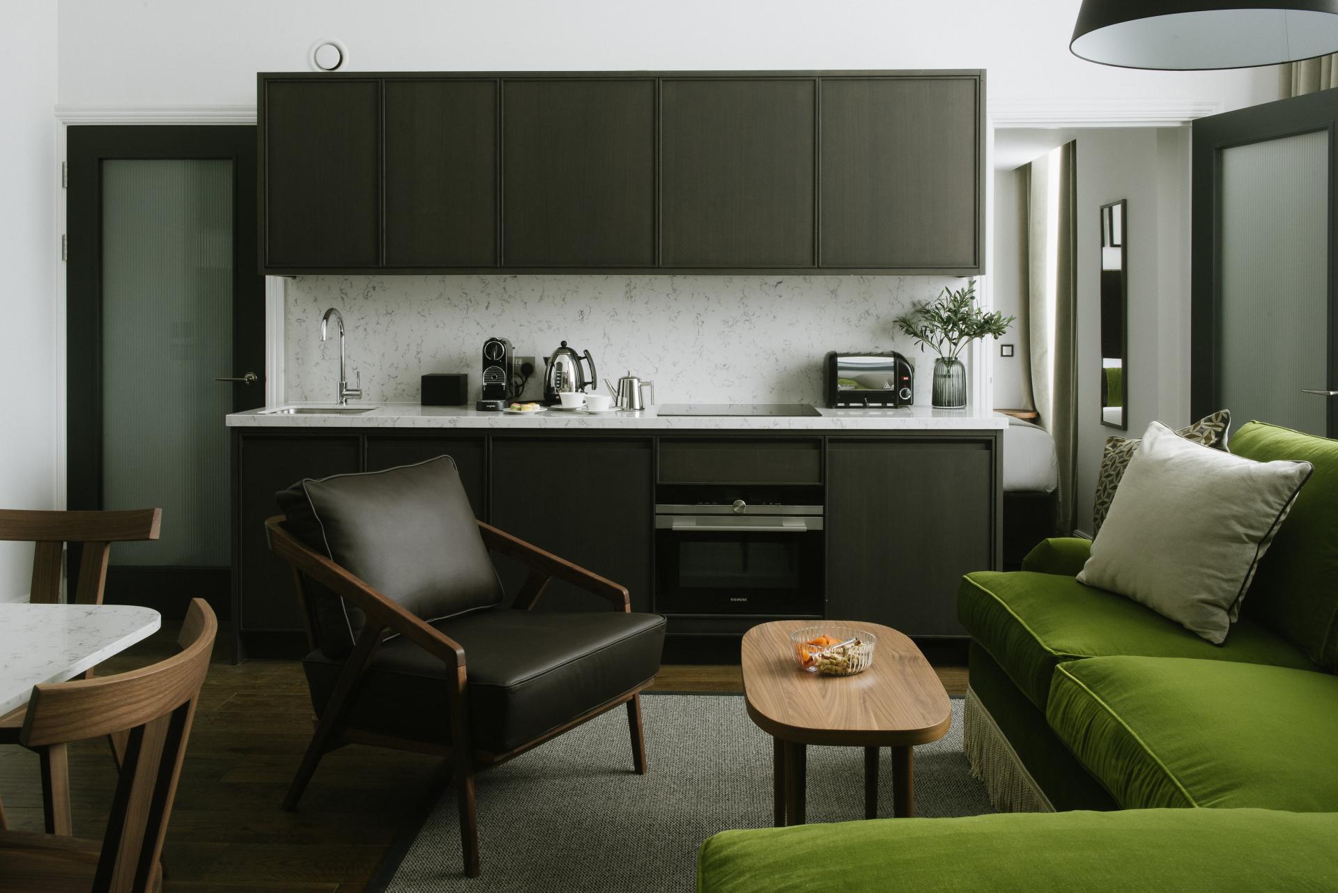 Kitchen at The Edinburgh Grand Apartments, Centre, Edinburgh - Citybase Apartments