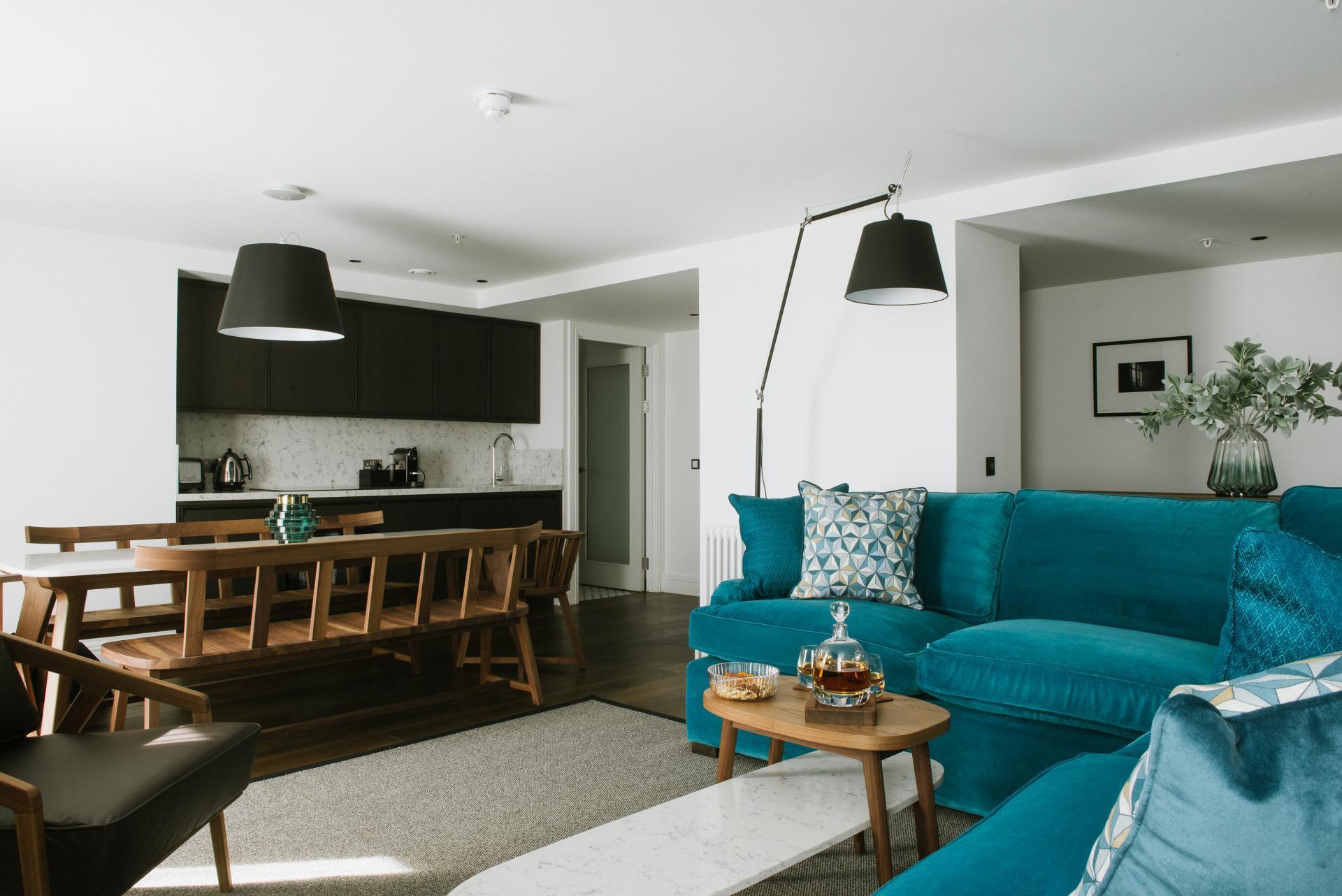 Lounge at The Edinburgh Grand Apartments, Centre, Edinburgh - Citybase Apartments