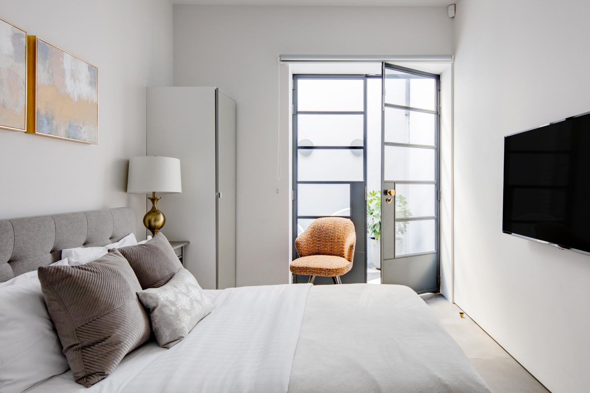 Bedroom at Royalty Mews, Carnaby, London - Citybase Apartments