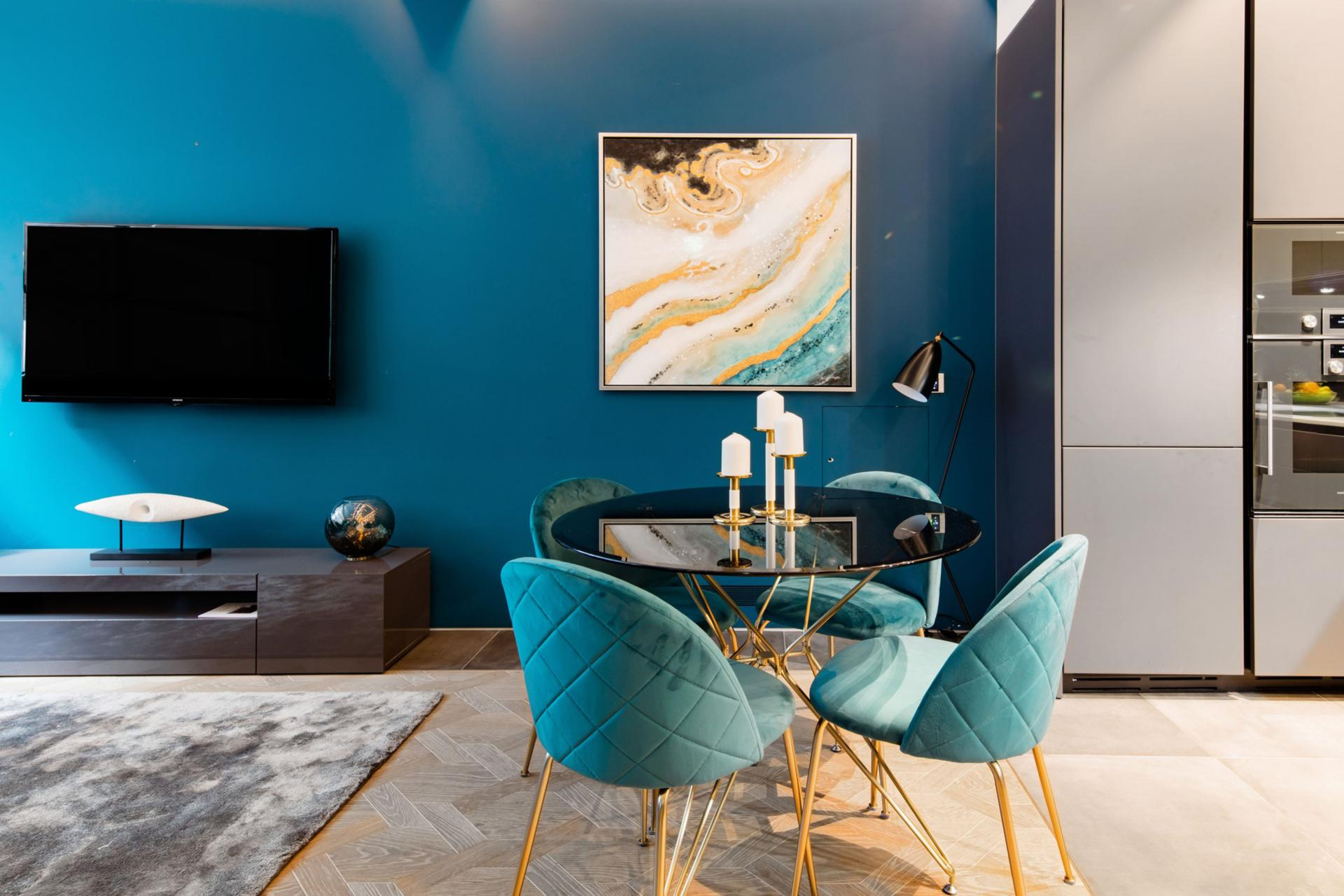 Dining area at Royalty Mews, Carnaby, London - Citybase Apartments