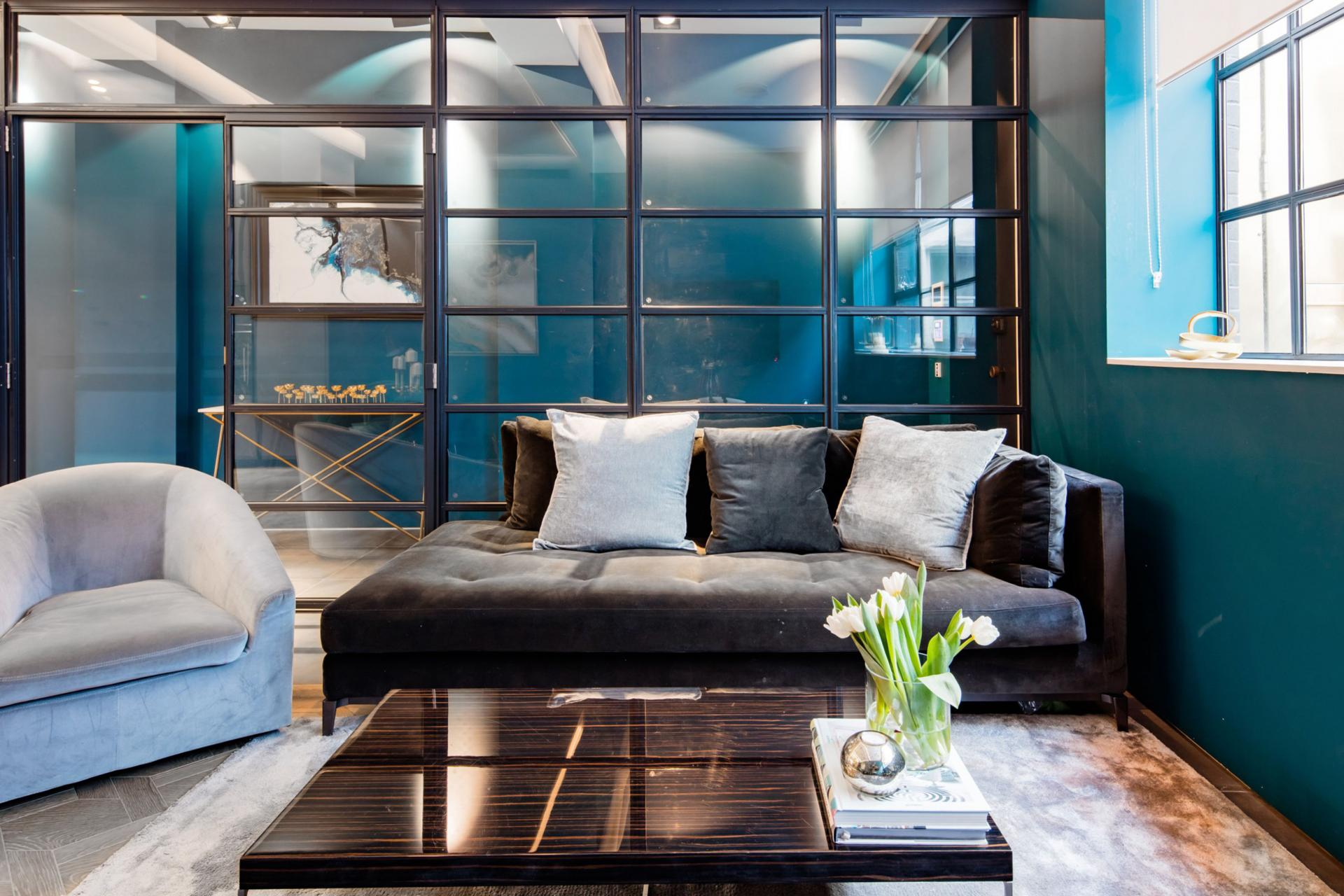 Living area at Royalty Mews, Carnaby, London - Citybase Apartments