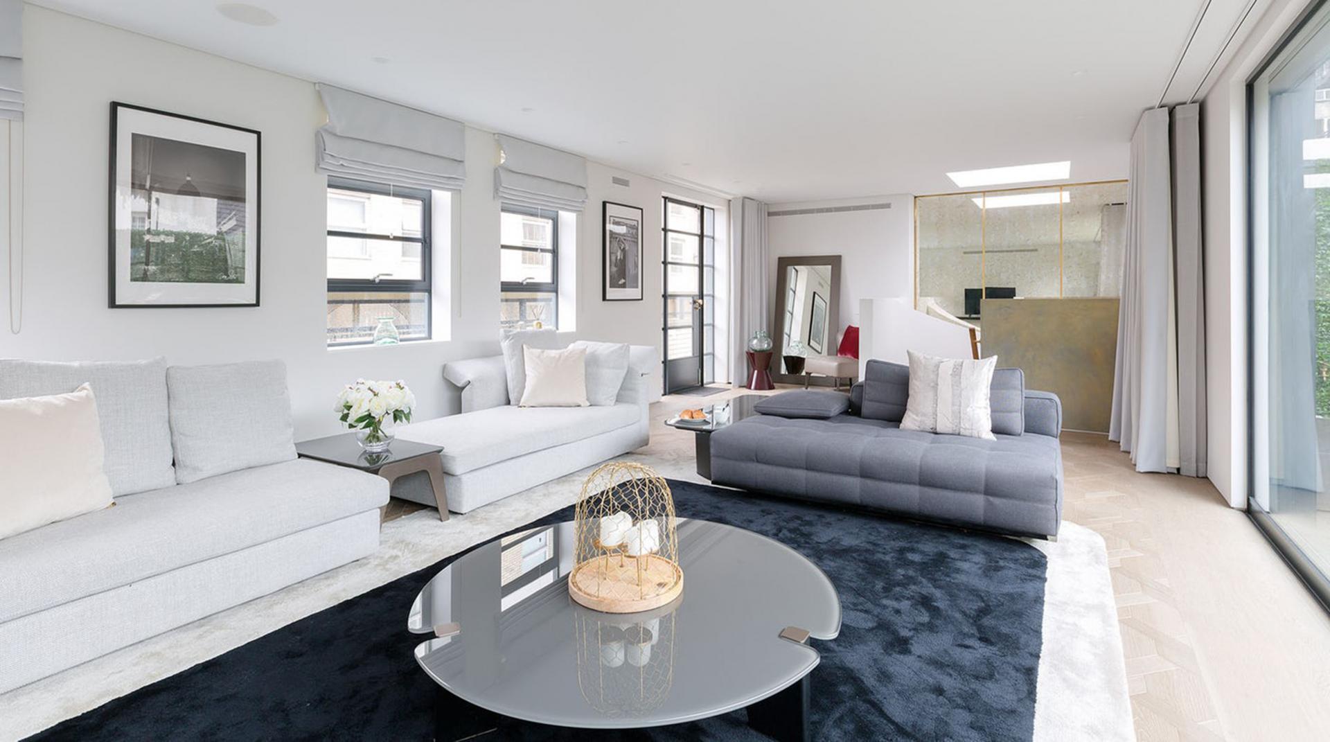 Sofas at Royalty Mews, Carnaby, London - Citybase Apartments