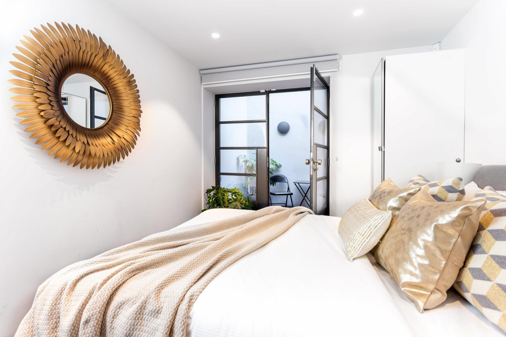 Bed at Royalty Mews, Carnaby, London - Citybase Apartments