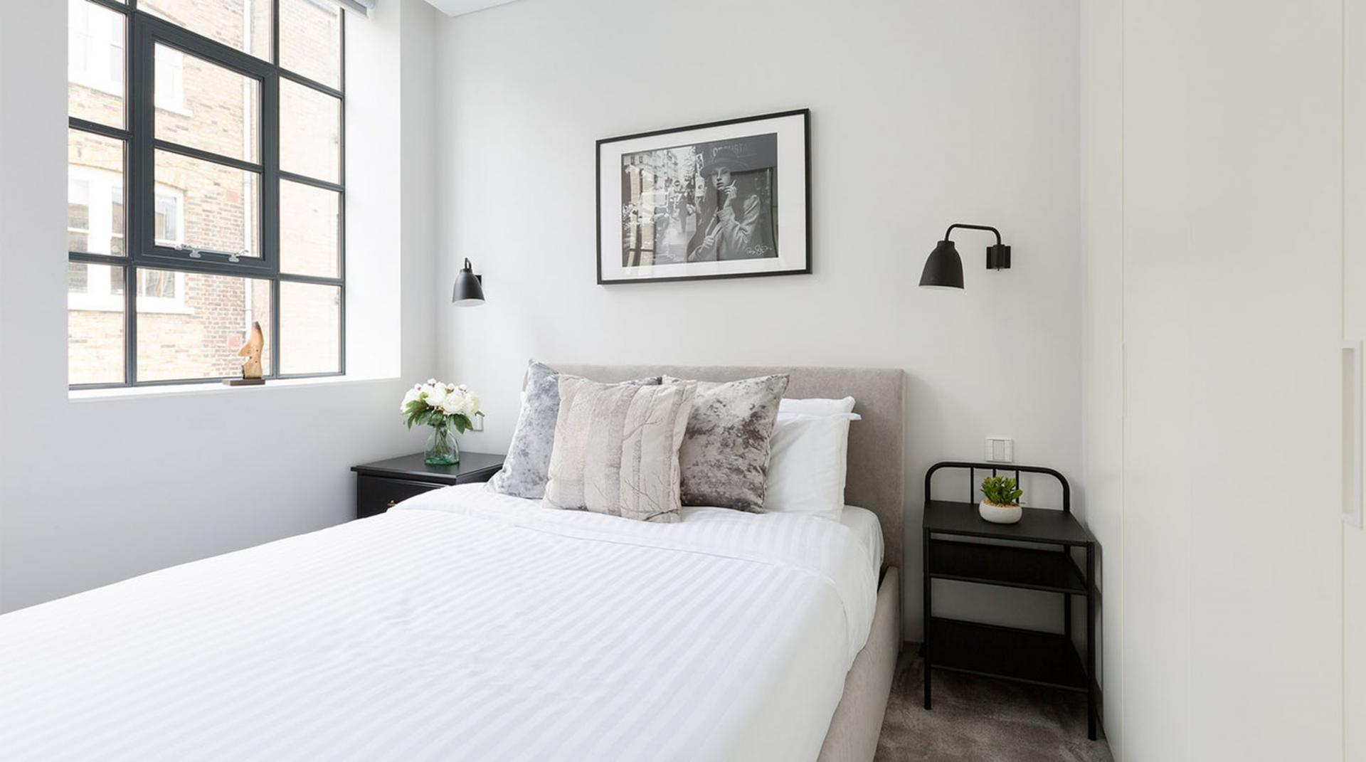 White linen at Royalty Mews, Carnaby, London - Citybase Apartments