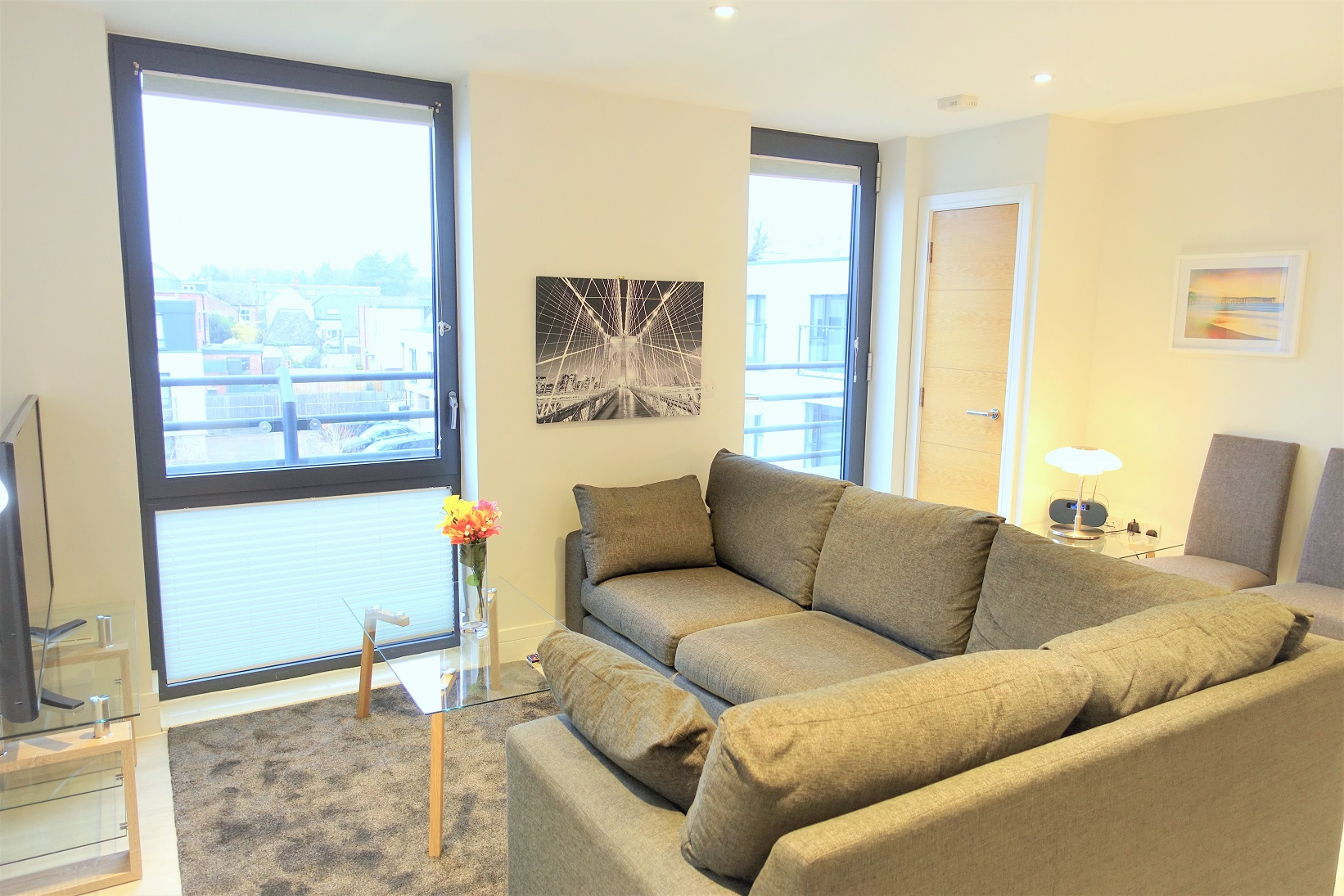 Bright living space at Teddington Apartments, Teddington, London - Citybase Apartments