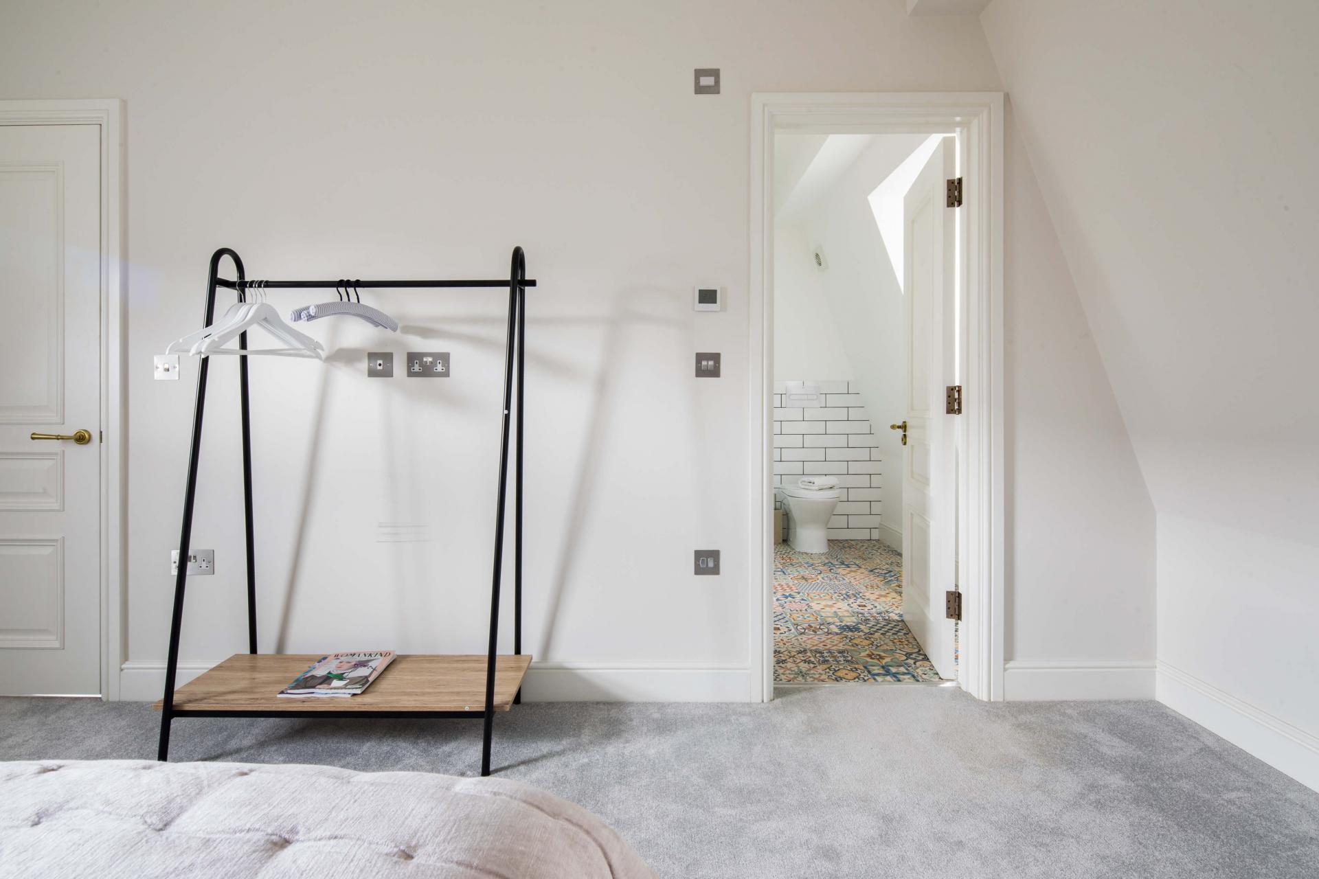 Clothes rail at Rainsford Mews, Paddington, London - Citybase Apartments