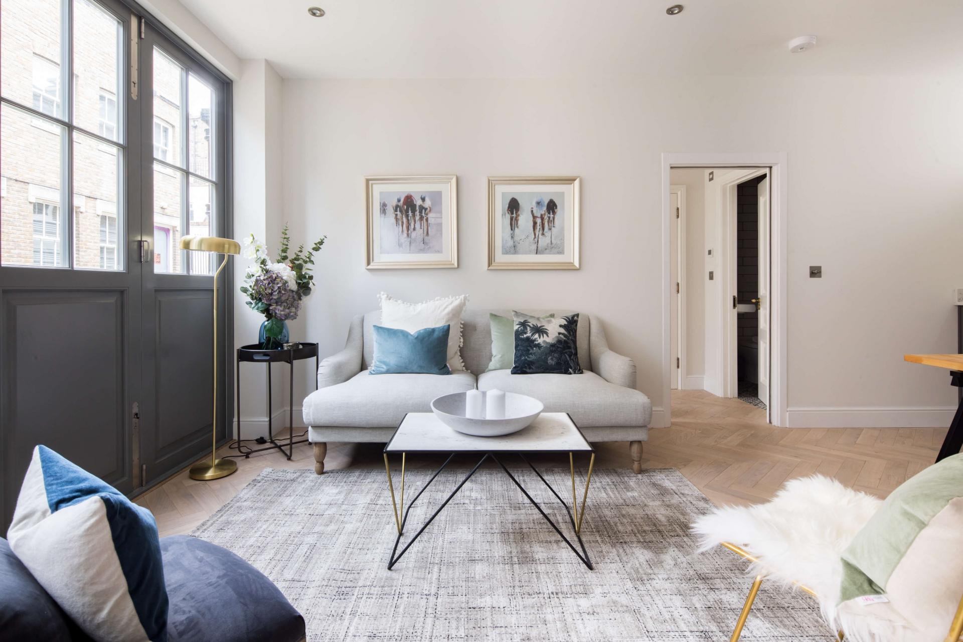 Living area at Rainsford Mews, Paddington, London - Citybase Apartments
