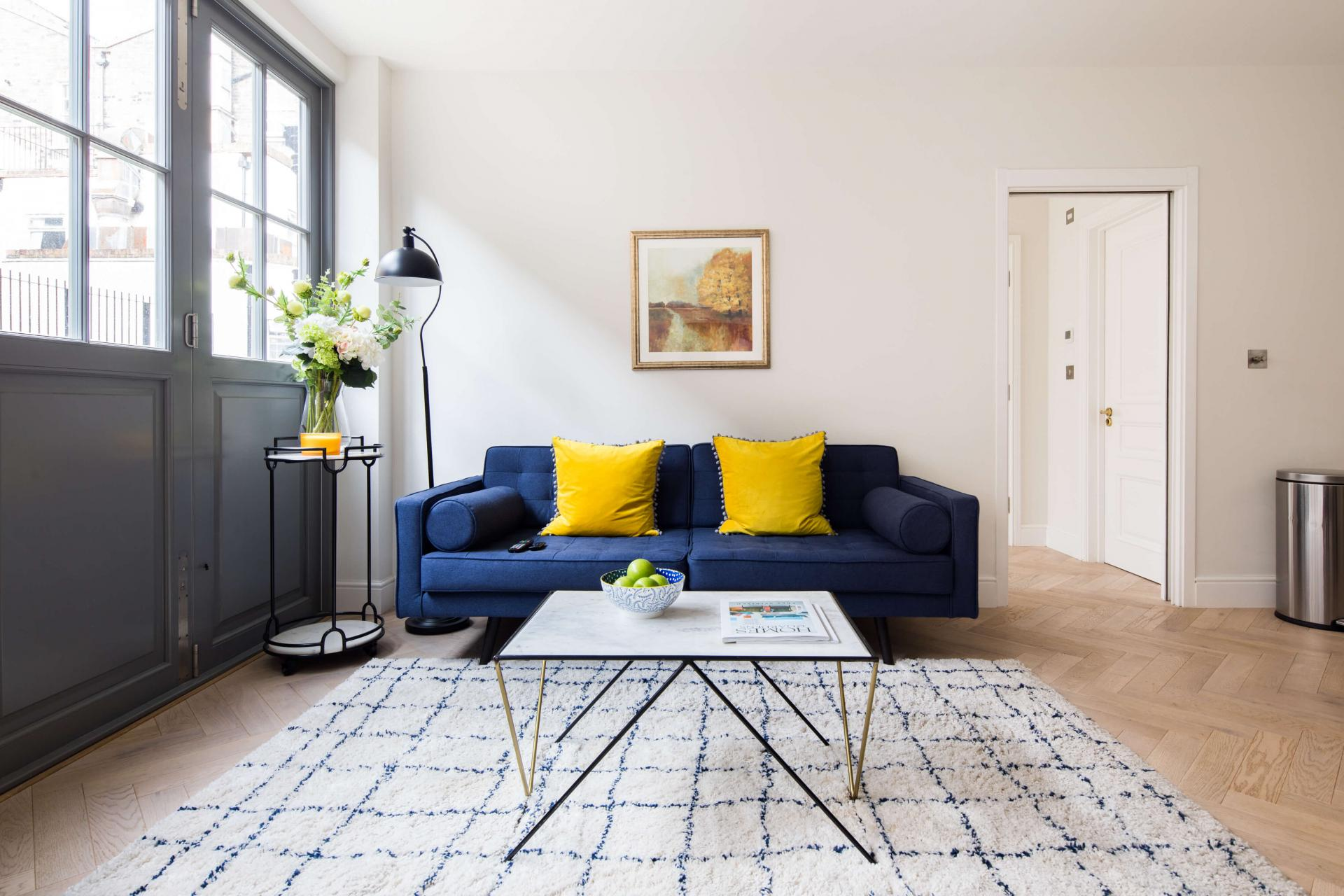Sofa at Rainsford Mews, Paddington, London - Citybase Apartments