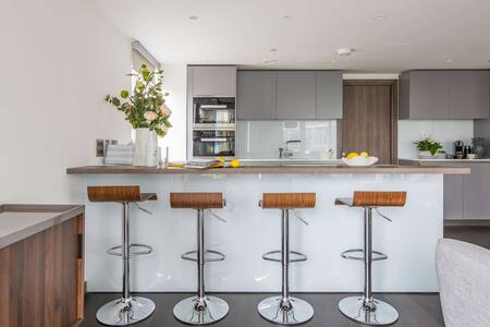 Kitchen at Paddington Gardens, Paddington, London - Citybase Apartments