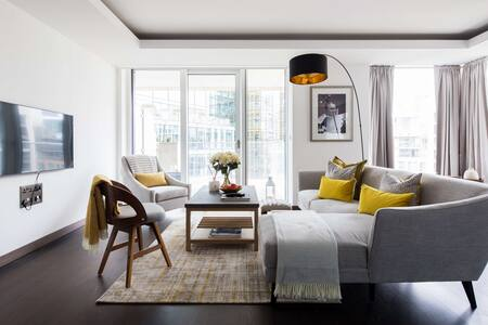 Sofa at Paddington Gardens, Paddington, London - Citybase Apartments