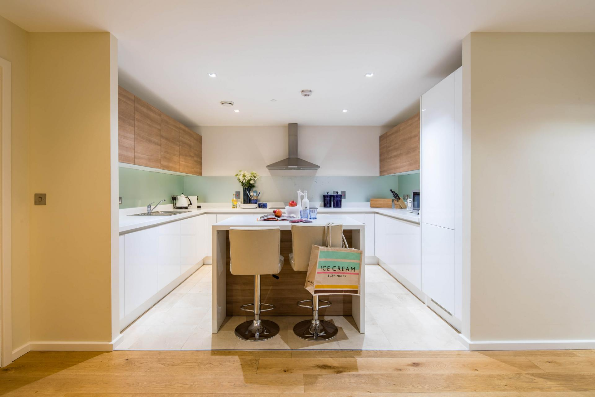Kitchen at Meritas Court Apartments, Bayswater, London - Citybase Apartments