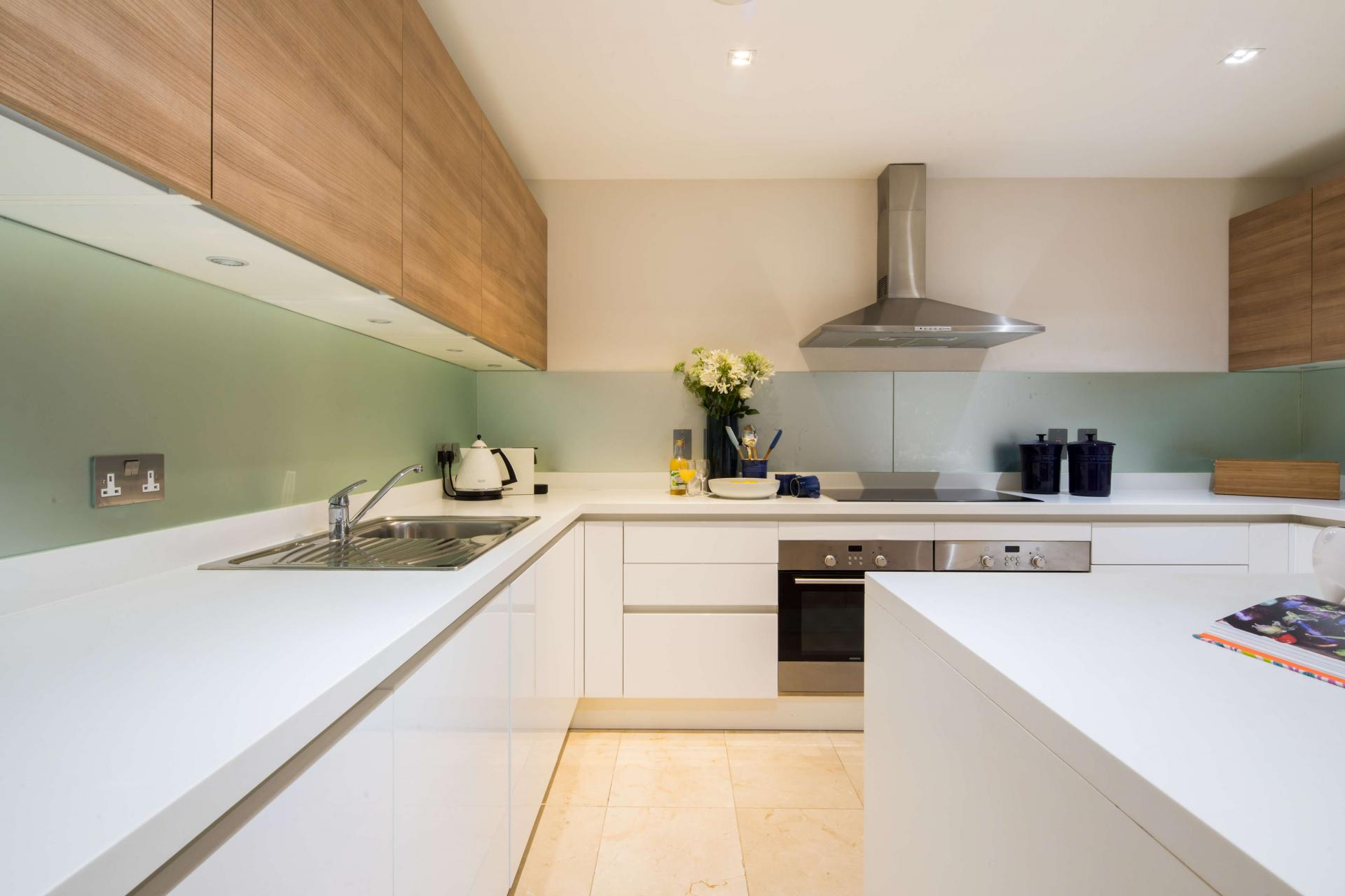 Sleek kitchen at Meritas Court Apartments, Bayswater, London - Citybase Apartments