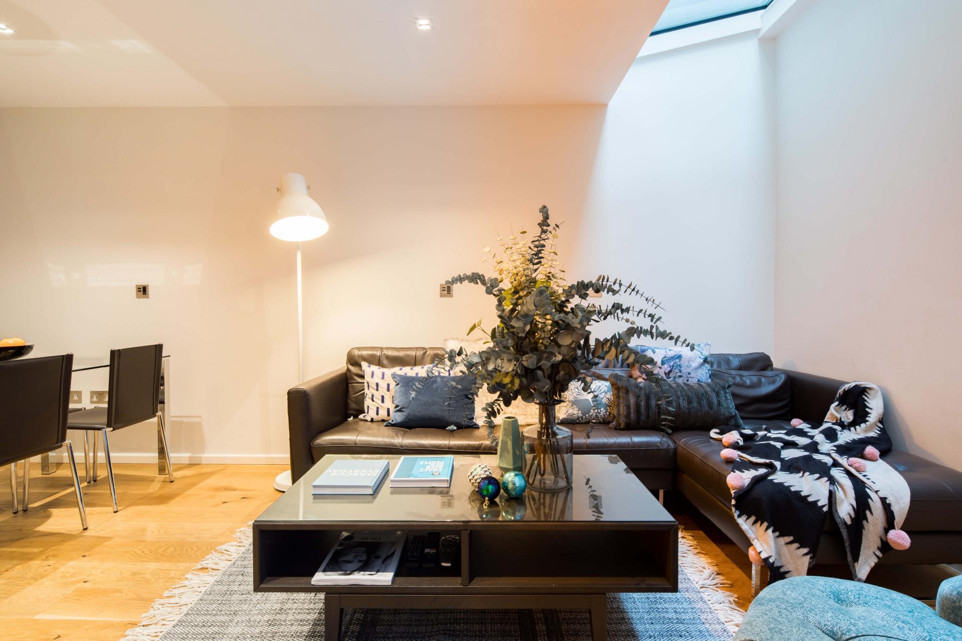 Sofas at Meritas Court Apartments, Bayswater, London - Citybase Apartments
