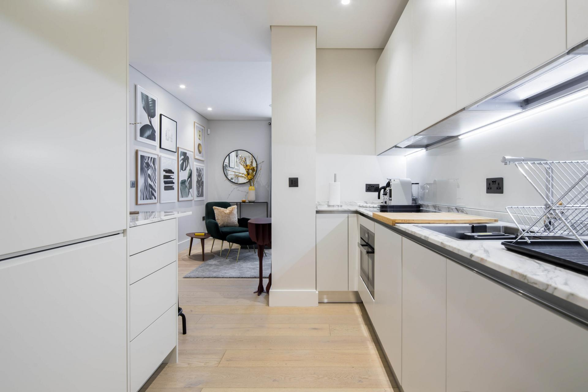 Kitchen at Castle Lane Apartments, Westminster, London - Citybase Apartments