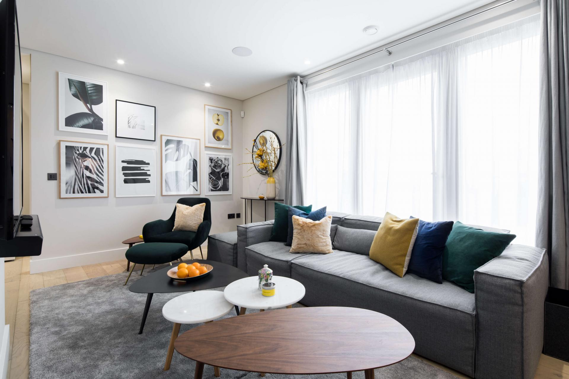 Coffee table at Castle Lane Apartments, Westminster, London - Citybase Apartments