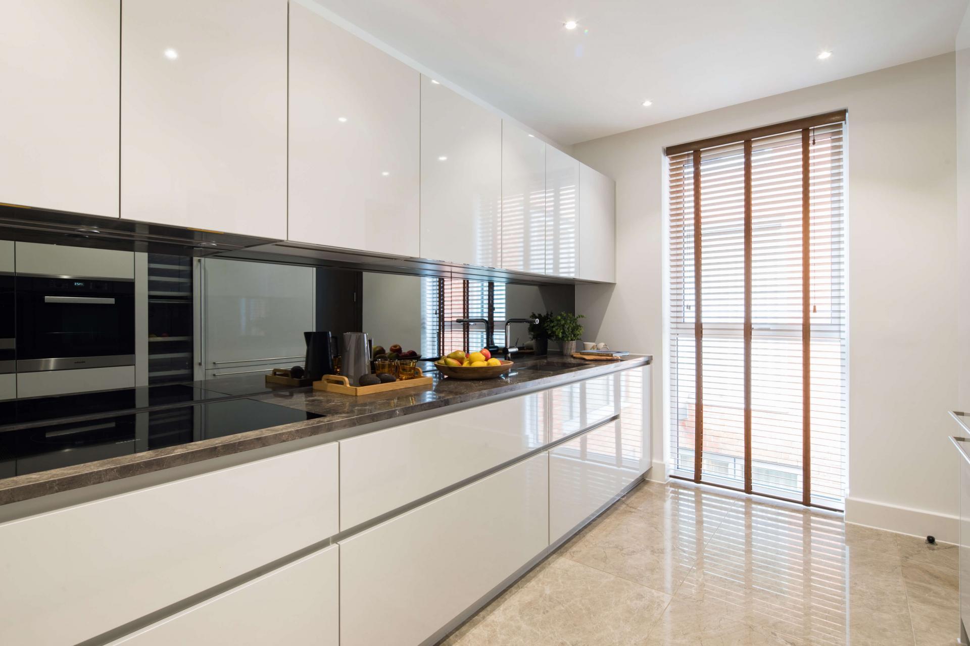 Kitchen at Logan Place Apartments, Kensington, London - Citybase Apartments