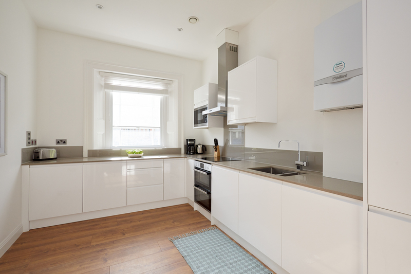 Kitchen at Inverness Mews, Bayswater, London - Citybase Apartments