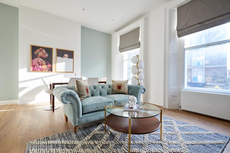 Sofa at Inverness Mews, Bayswater, London - Citybase Apartments