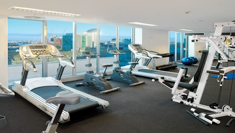 Fitness centre at Adina Apartment Hotel Melbourne, Northbank - Citybase Apartments