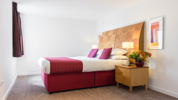 Bed at Premier Suites Birmingham - Citybase Apartments