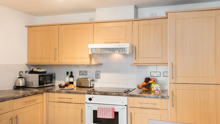 Kitchen area at Premier Suites Birmingham - Citybase Apartments