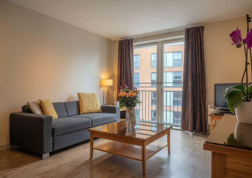Sofa at Premier Suites Birmingham - Citybase Apartments