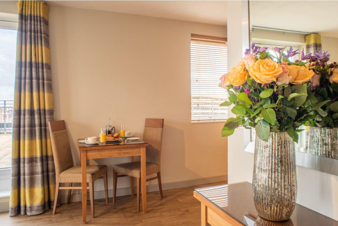Dining at Premier Suites Birmingham - Citybase Apartments