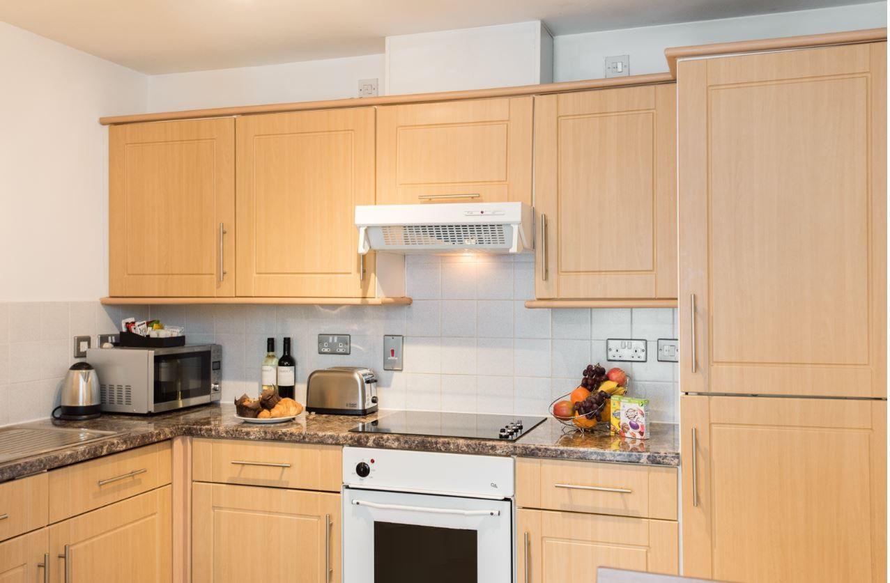 Kitchen at Premier Suites Birmingham - Citybase Apartments