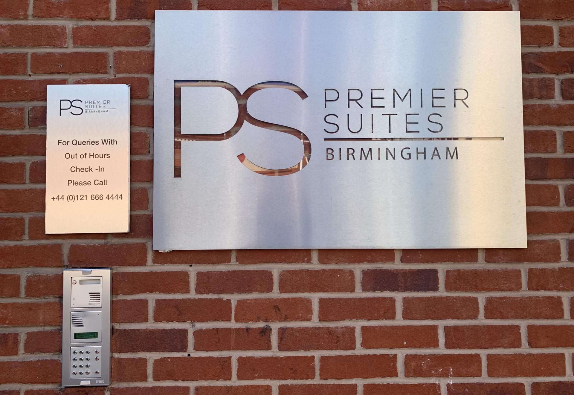 Secure main door entry at Premier Suites Birmingham - Citybase Apartments