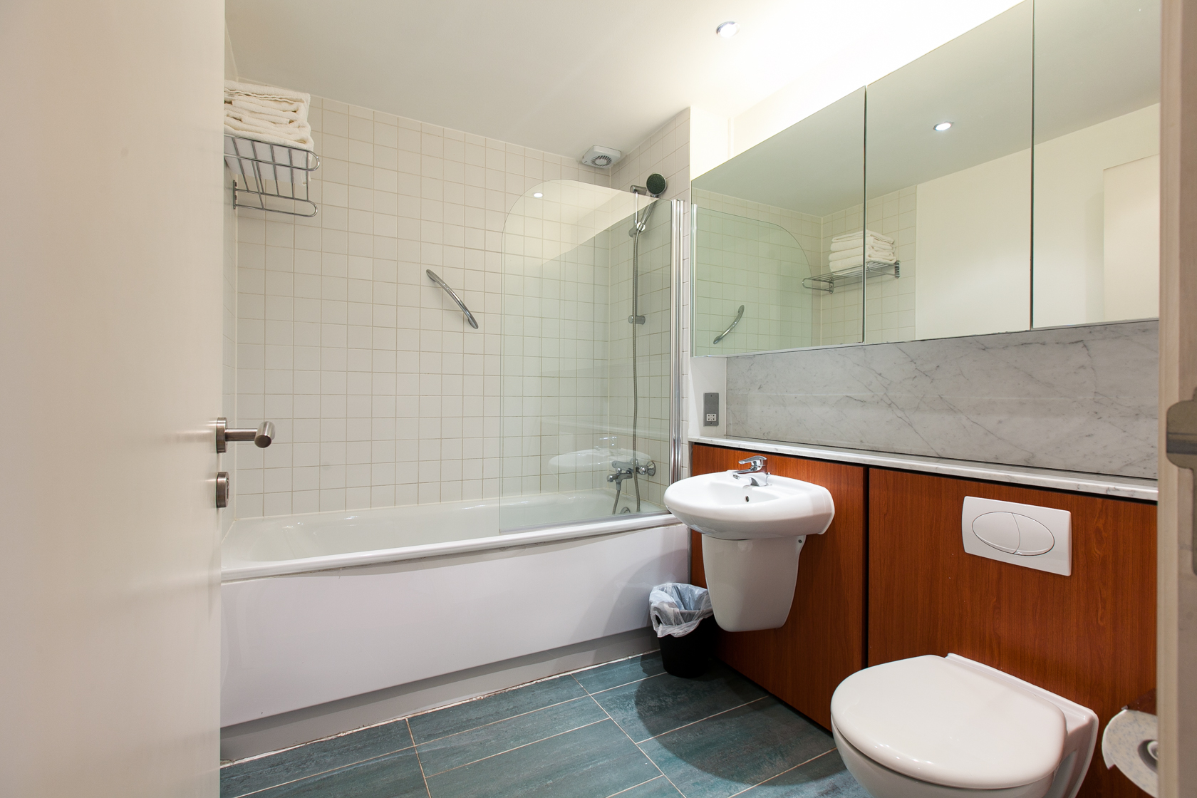 Bathroom at The Forum Sandyford Apartment, Sandyford, Dublin - Citybase Apartments