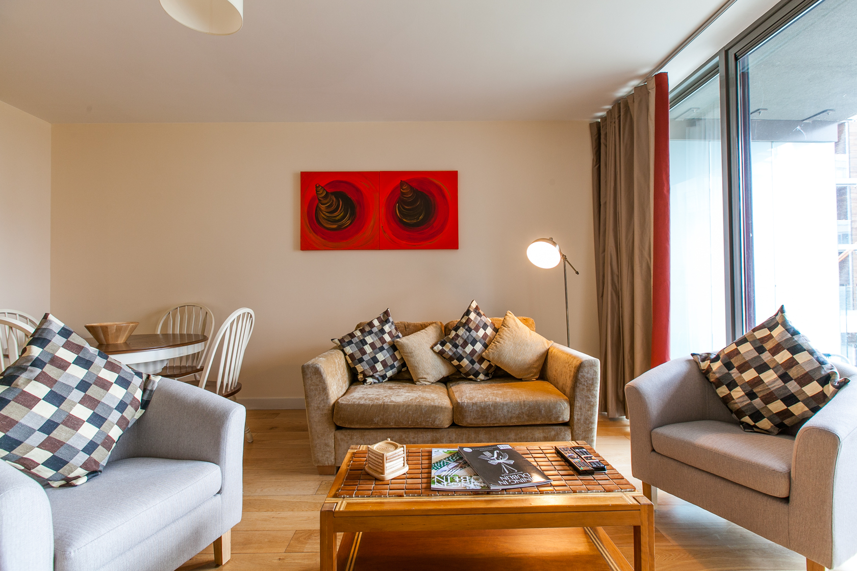 Living room at The Forum Sandyford Apartment, Sandyford, Dublin - Citybase Apartments