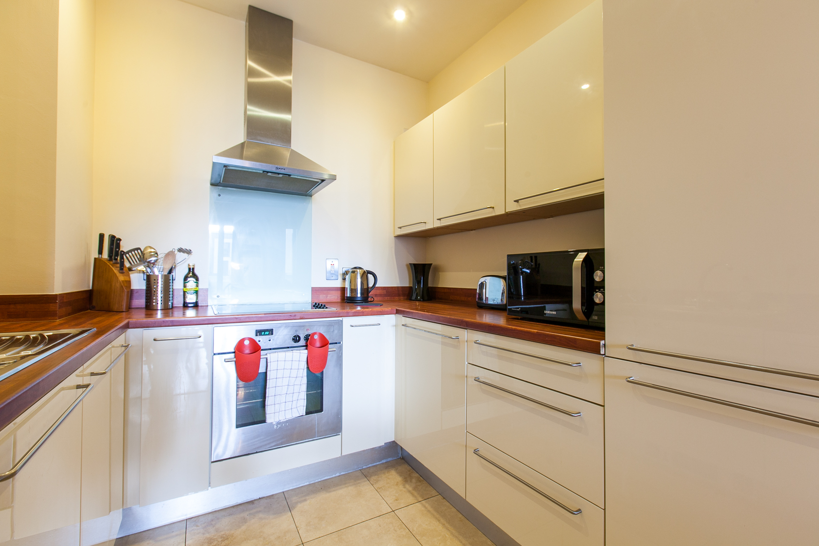 Kitchen at The Forum Sandyford Apartment, Sandyford, Dublin - Citybase Apartments