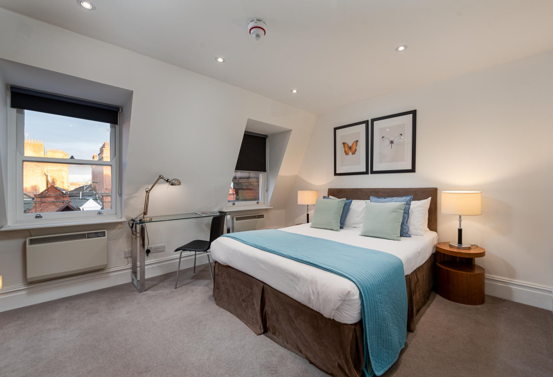 Bedroom at Draycott Place Serviced Apartments, Chelsea, London - Citybase Apartments