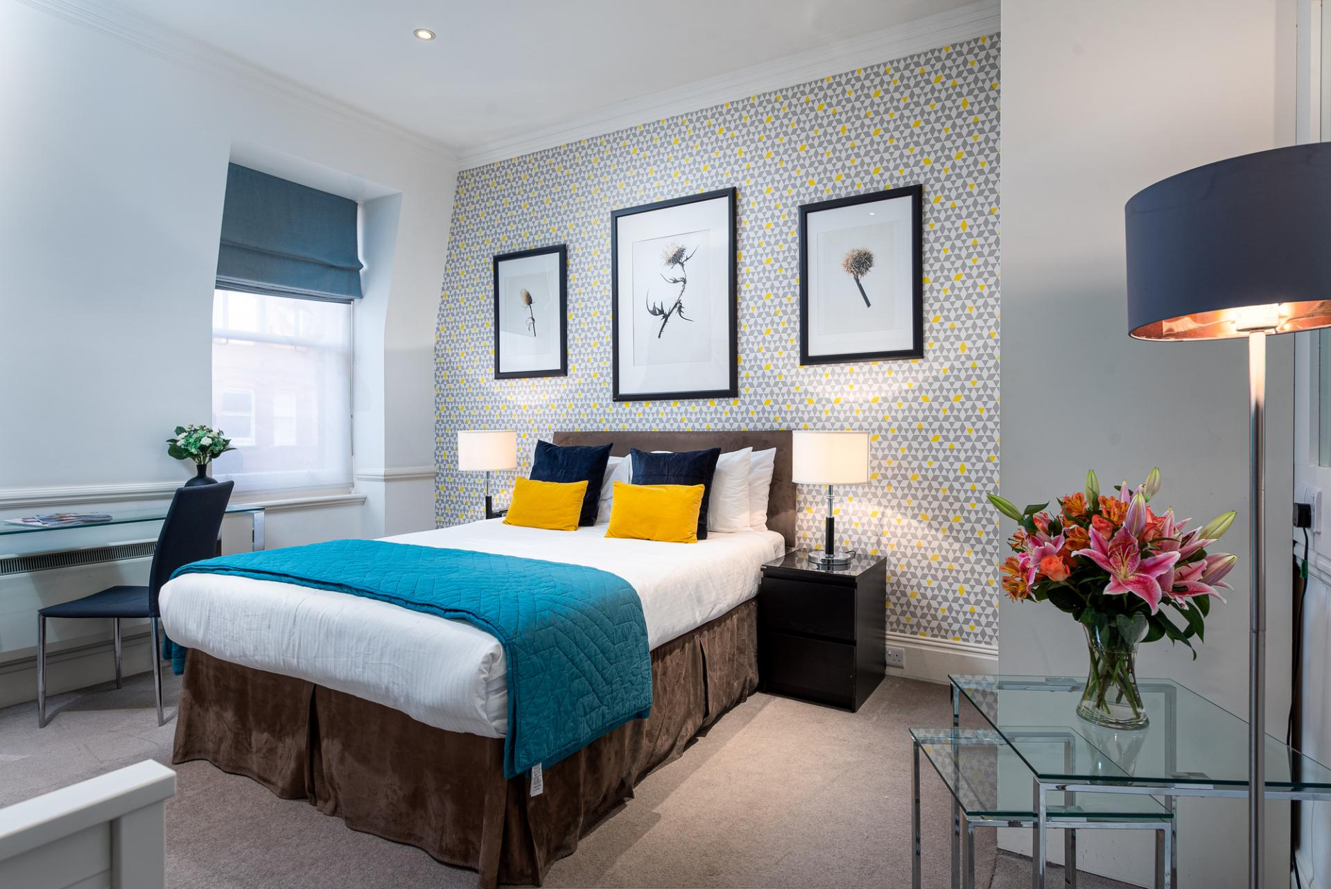 Bed at Draycott Place Serviced Apartments, Chelsea, London - Citybase Apartments