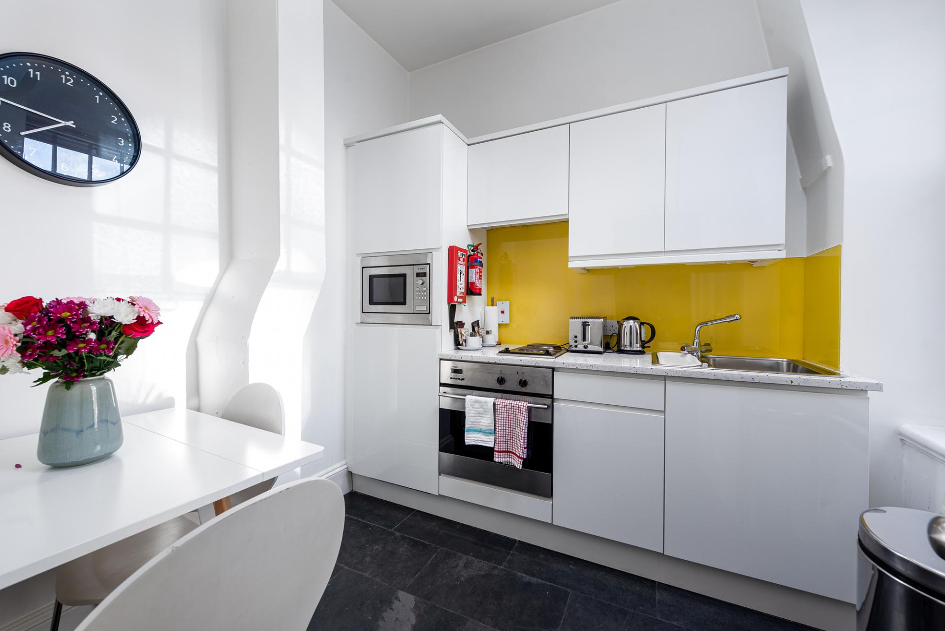 Kitchen at Draycott Place Serviced Apartments, Chelsea, London - Citybase Apartments