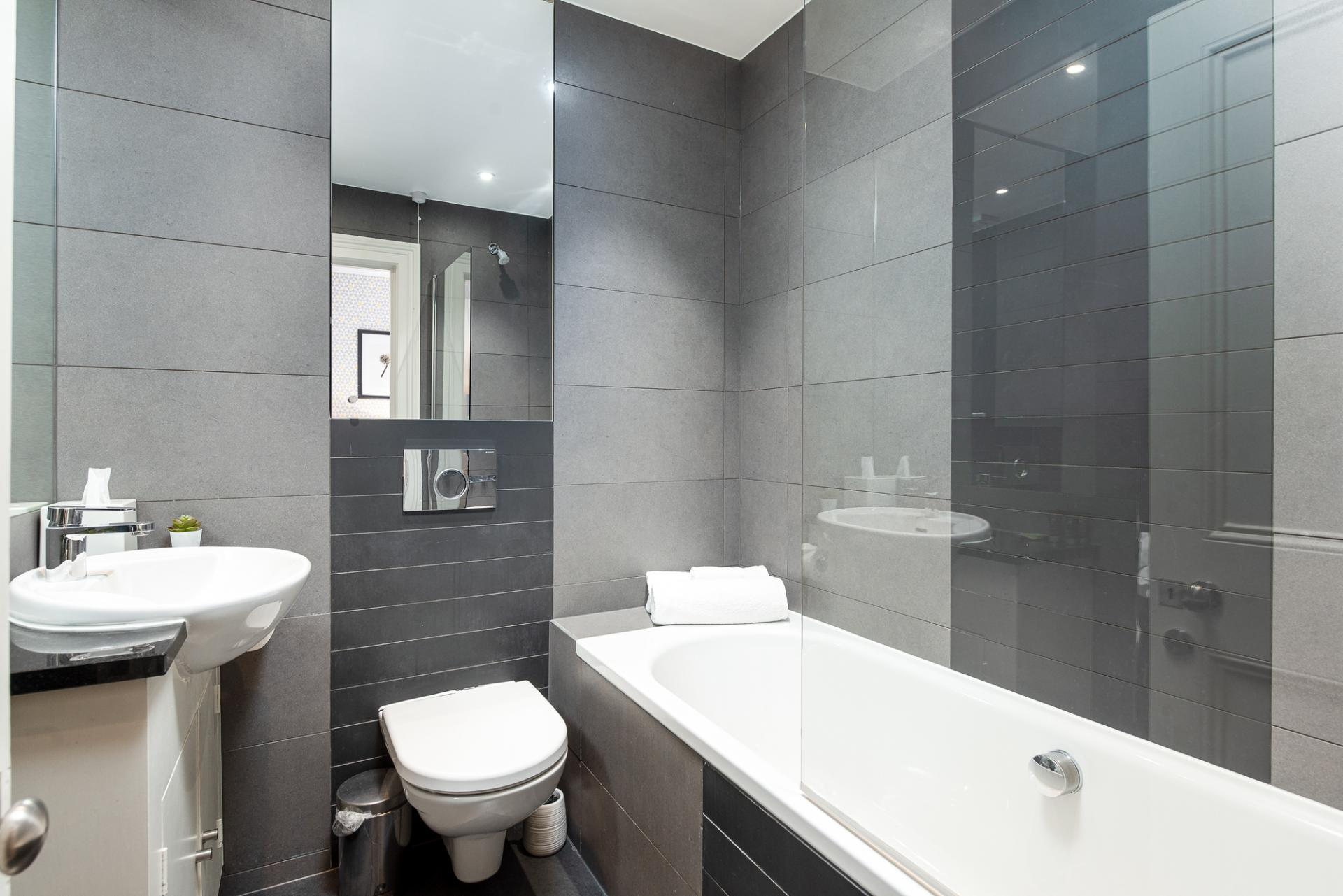 Bathroom at Draycott Place Serviced Apartments, Chelsea, London - Citybase Apartments