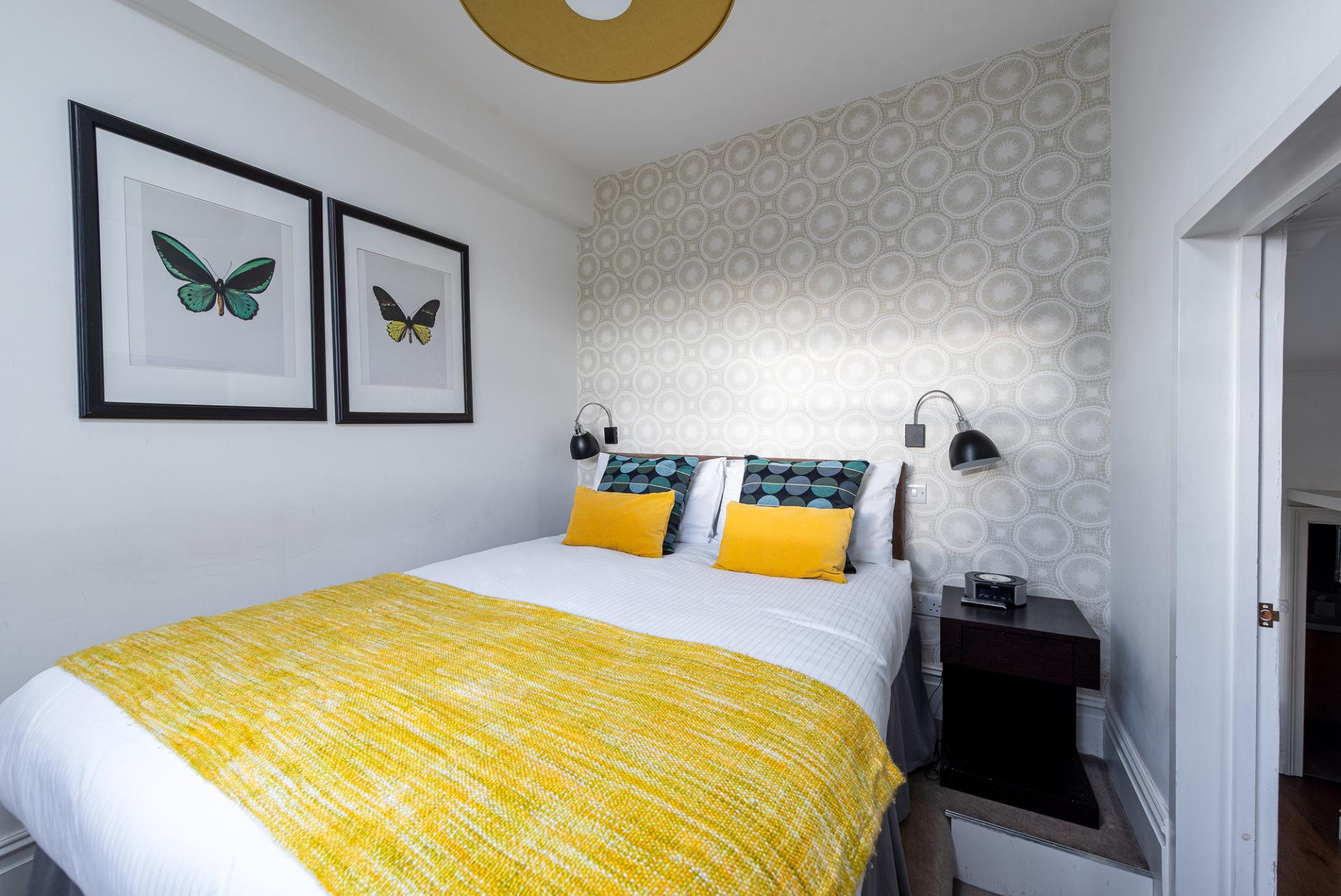 Cosy bed at Draycott Place Serviced Apartments, Chelsea, London - Citybase Apartments