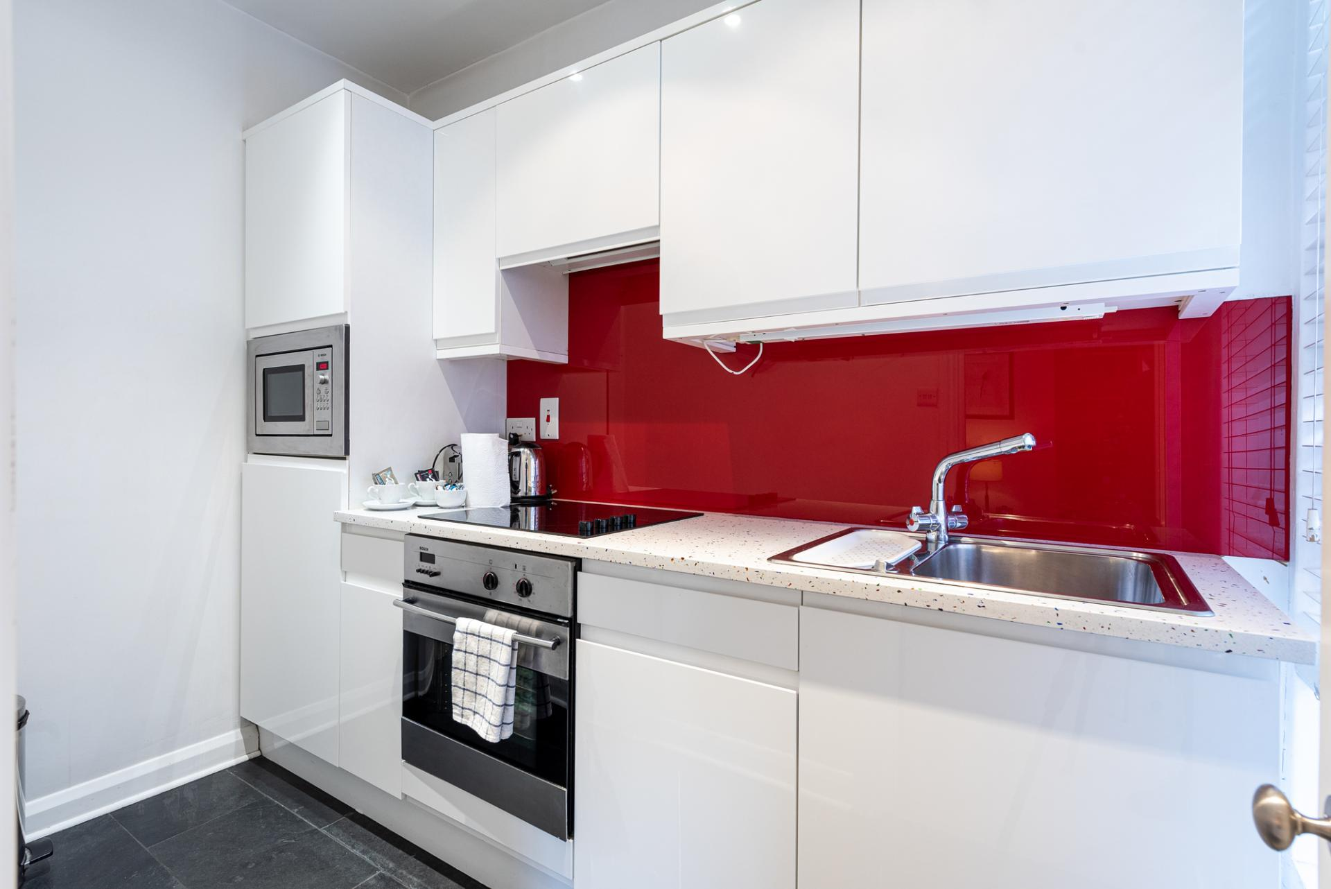 Modern kitchen at Draycott Place Serviced Apartments, Chelsea, London - Citybase Apartments