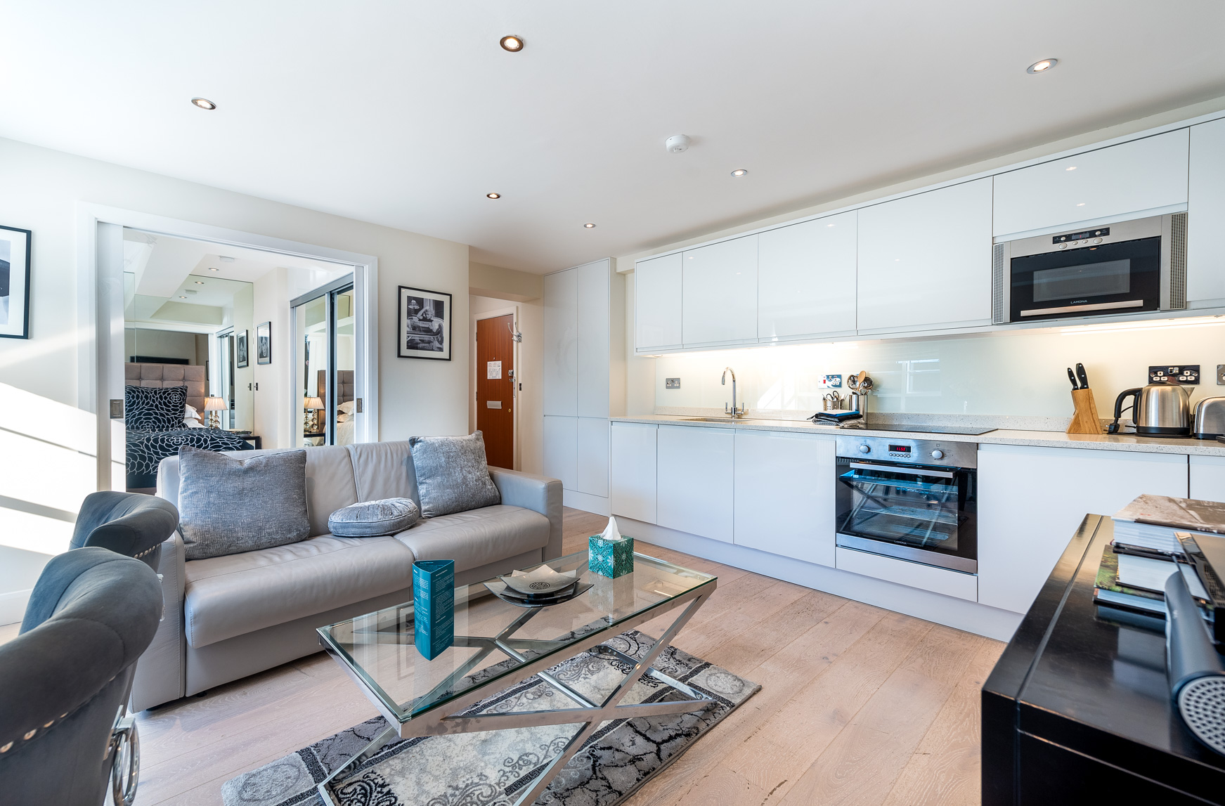 Kitchen at Nell Gwynn House Accommodation, Chelsea, London - Citybase Apartments