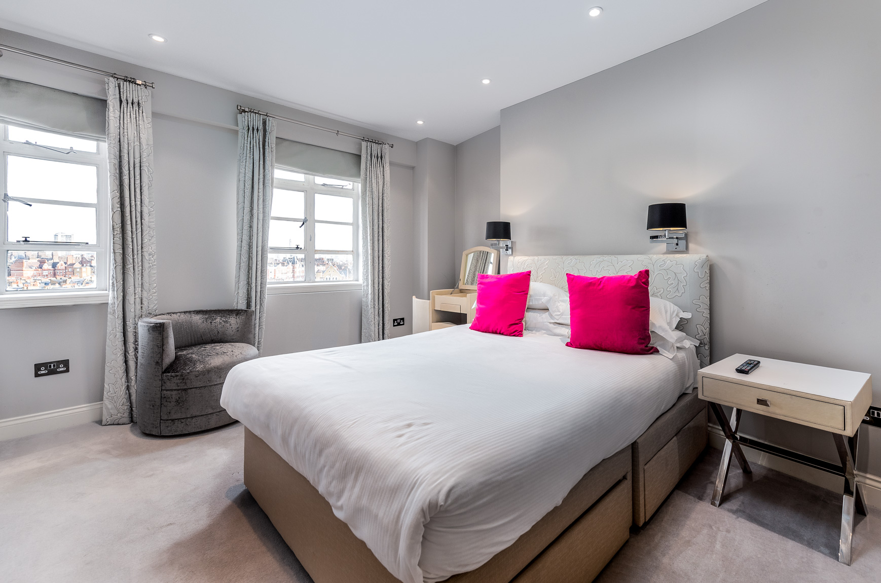 Bedroom at Nell Gwynn House Accommodation, Chelsea, London - Citybase Apartments