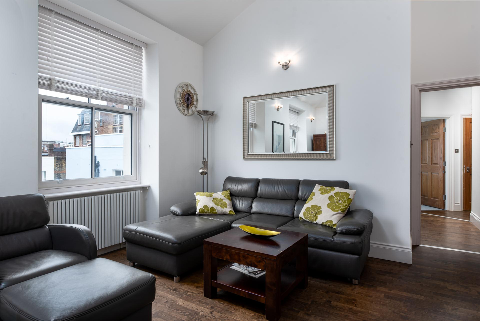 Sofa at Chelsea Green Apartments, Chelsea, London - Citybase Apartments