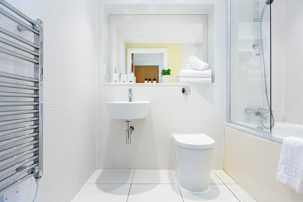 Bathroom at Lanterns Court, Canary Wharf, London - Citybase Apartments