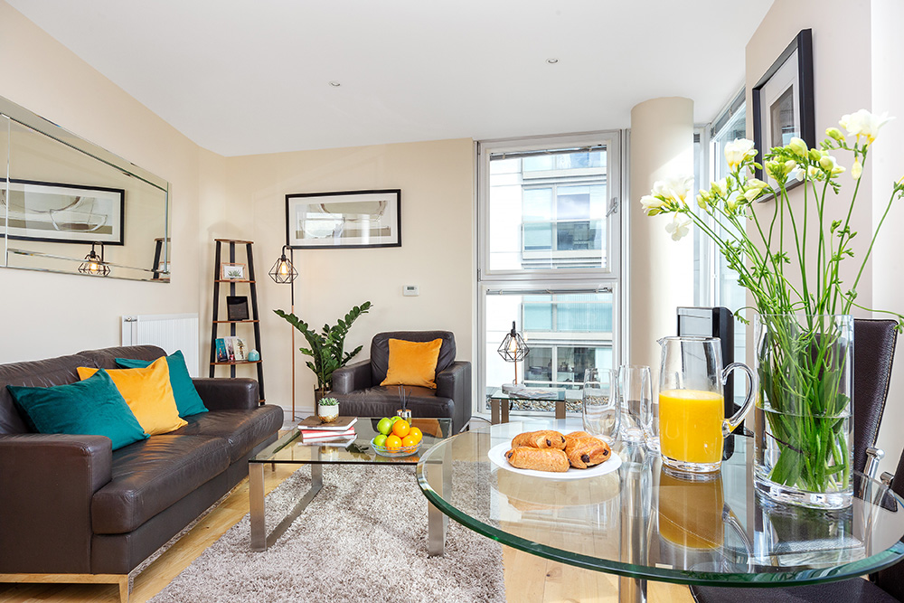 Open-plan at Lanterns Court, Canary Wharf, London - Citybase Apartments