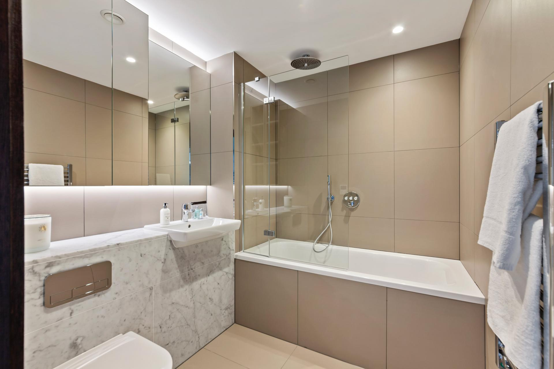 Bath at The Residence Tower Hill, Whitechapel, London - Citybase Apartments
