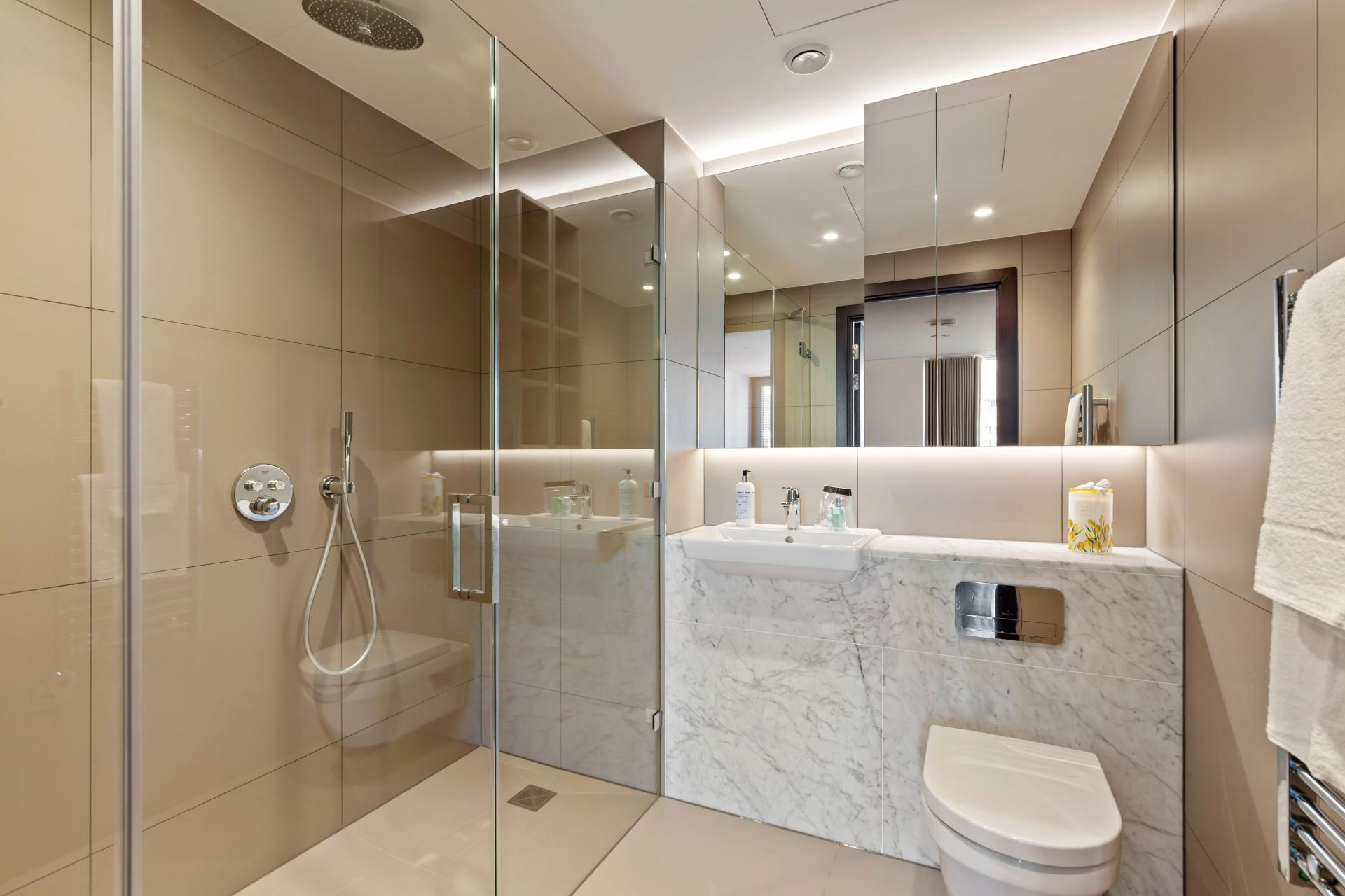 Bathroom at The Residence Tower Hill, Whitechapel, London - Citybase Apartments