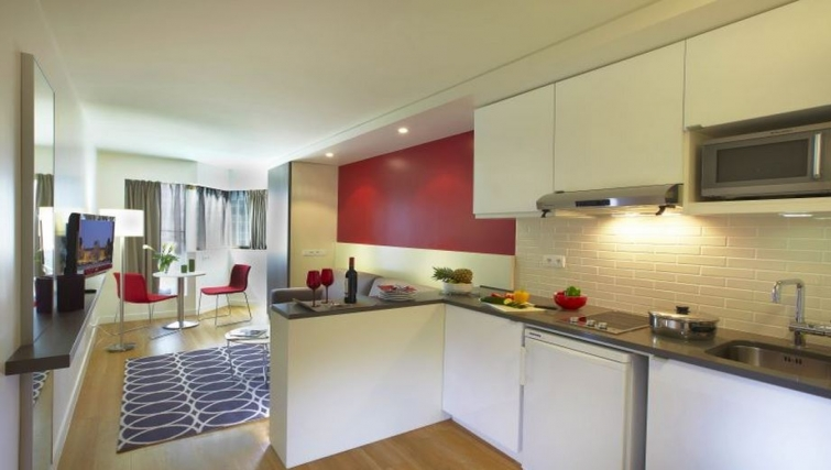 Colourful kitchen in Citadines Maine Montparnasse Apartments - Citybase Apartments