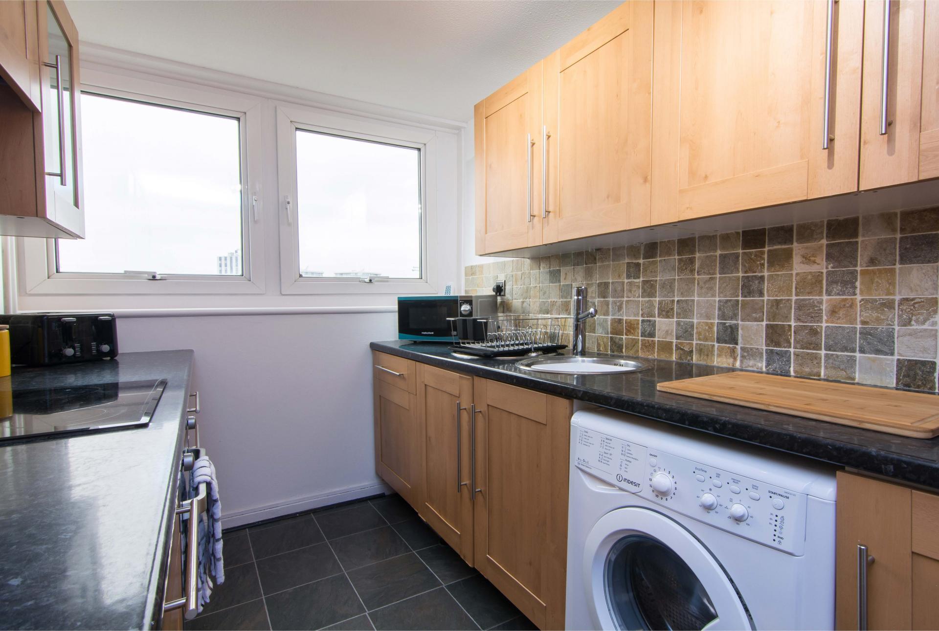 Kitchen at Victoria Centre Apartment, Centre, Nottingham - Citybase Apartments