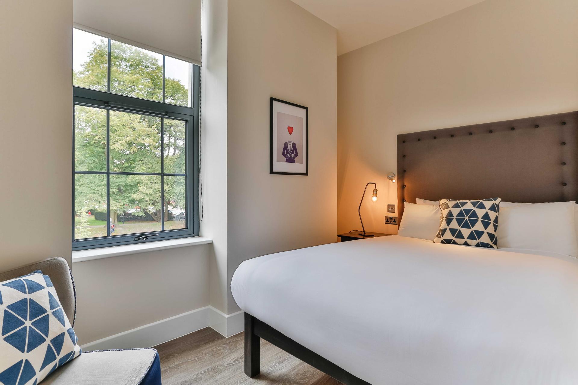 Bedroom at Park Lane Aparthotel, Centre, Cardiff - Citybase Apartments