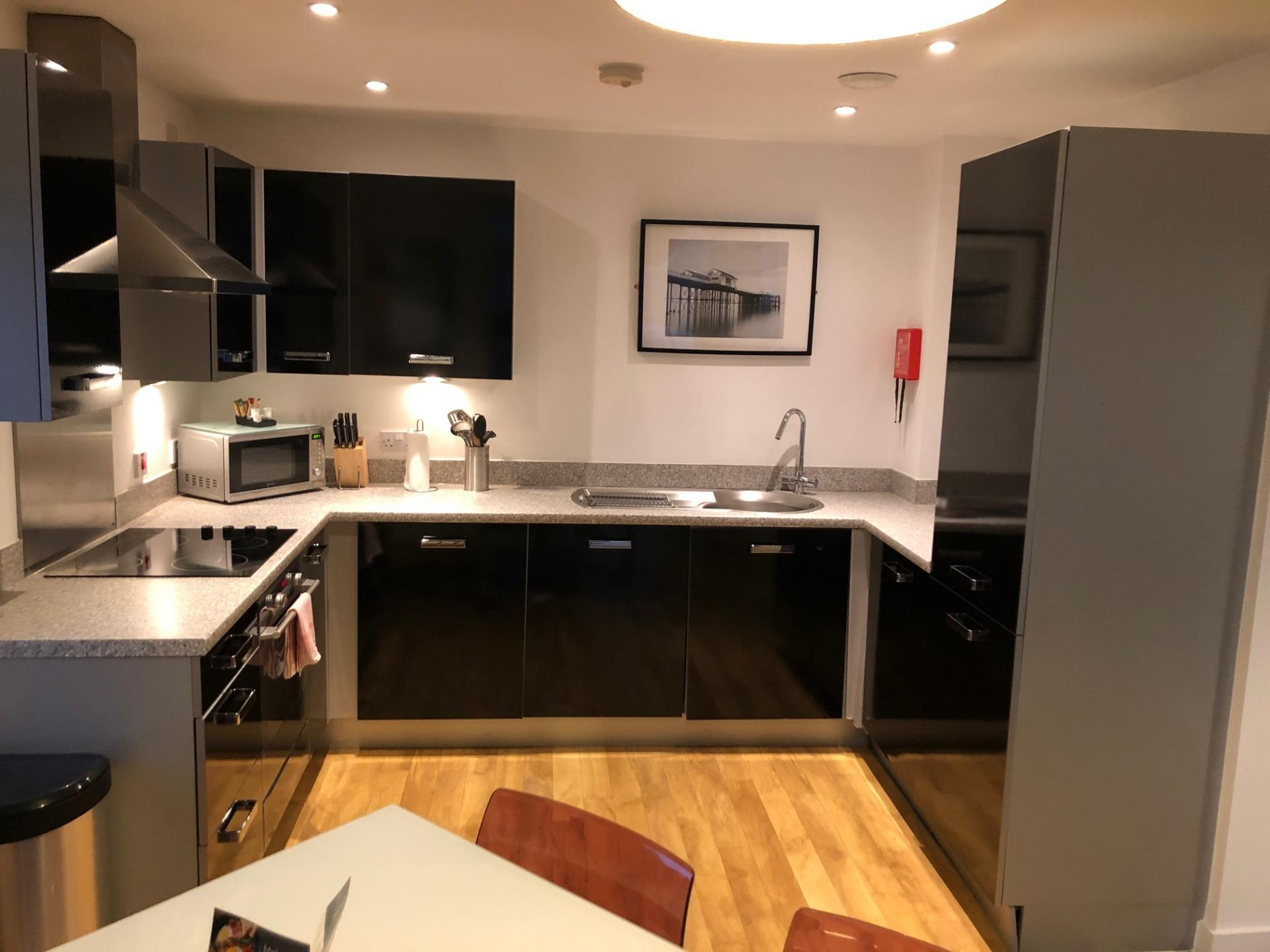 Kitchen at The Quayside Apartments, Atlantic Wharf, Cardiff - Citybase Apartments